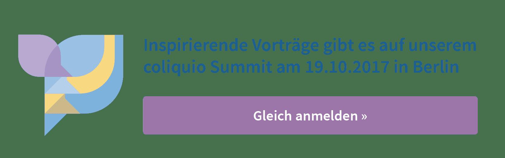 zum coliquio Summit anmelden