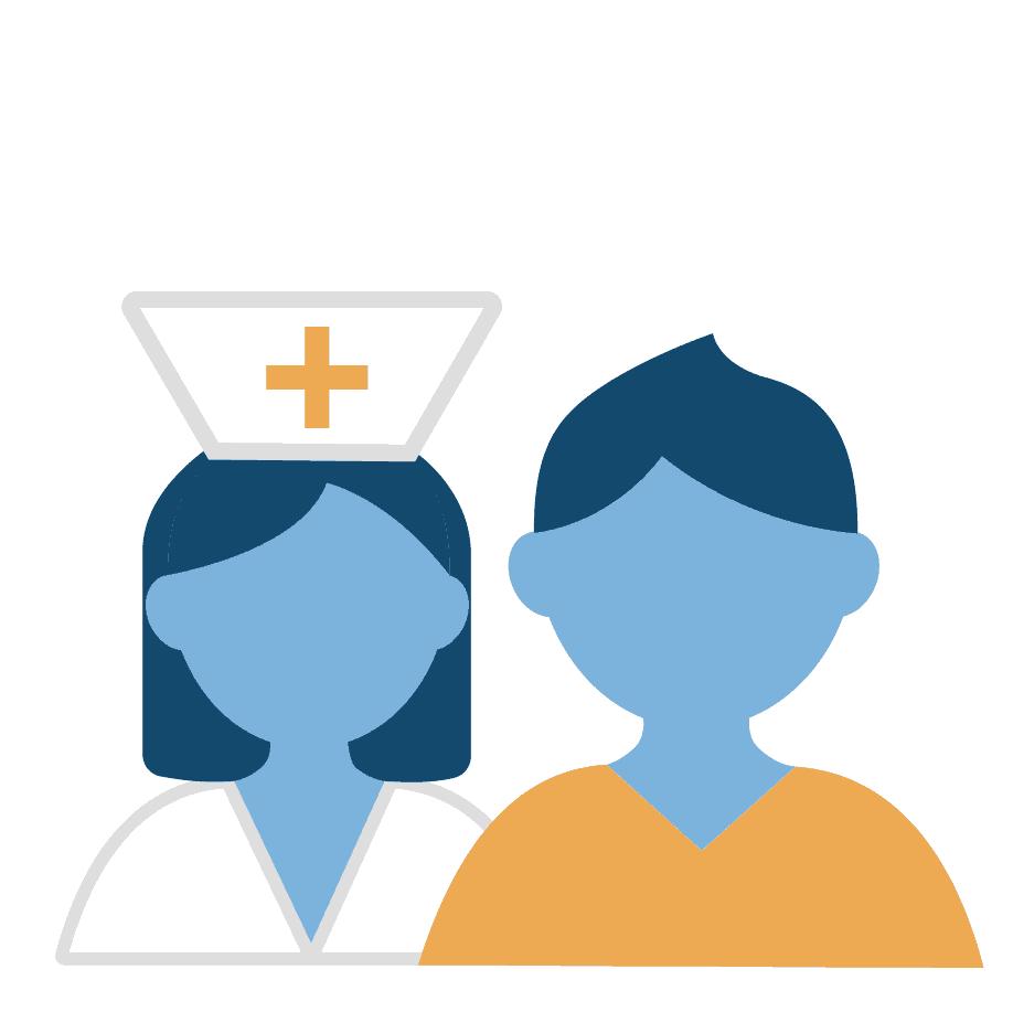 Patient und Pfleger