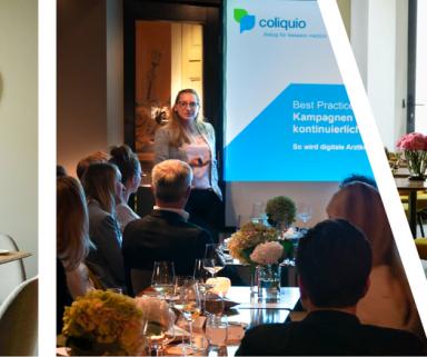 Content Marketing zum Anfassen | Wertvolle Learnings und Networking auf der coliquio Lounge Frankfurt