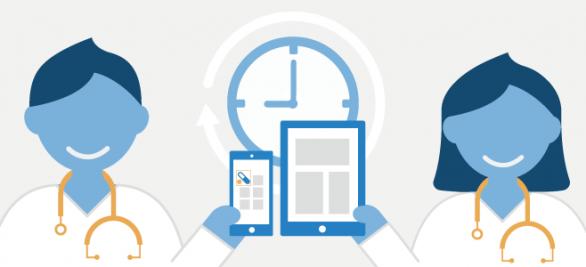 Neue Infografik | Smartphones und Apps im Arzt-Alltag