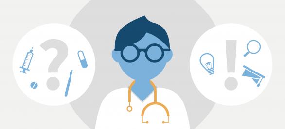 Infografik: Wie treffen Ärzte Therapie-Entscheidungen? | Aktuelle Umfrage unter 2.315 Ärzten