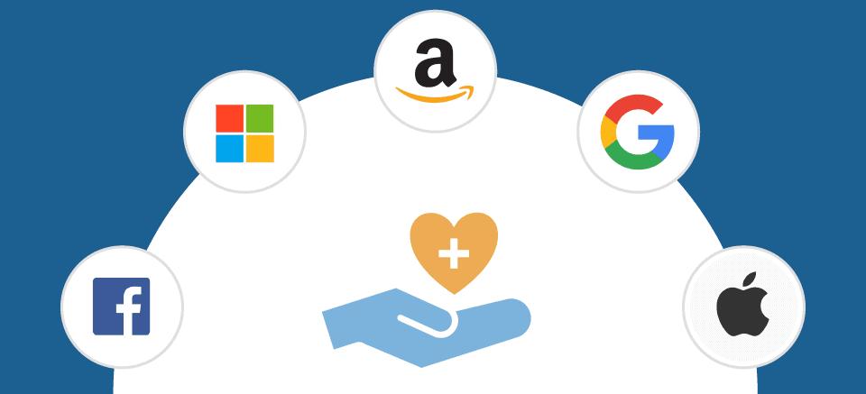 Wie Technologie-Riesen Healthcare angreifen   Diese Strategien verfolgen Google, Apple, Amazon, Microsoft und Facebook im Gesundheitsmarkt