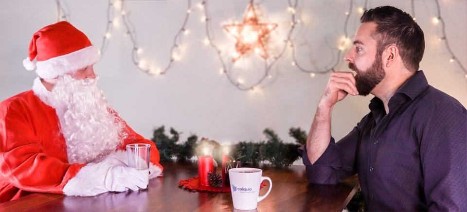 Weihnachtsmann und Martin Drees