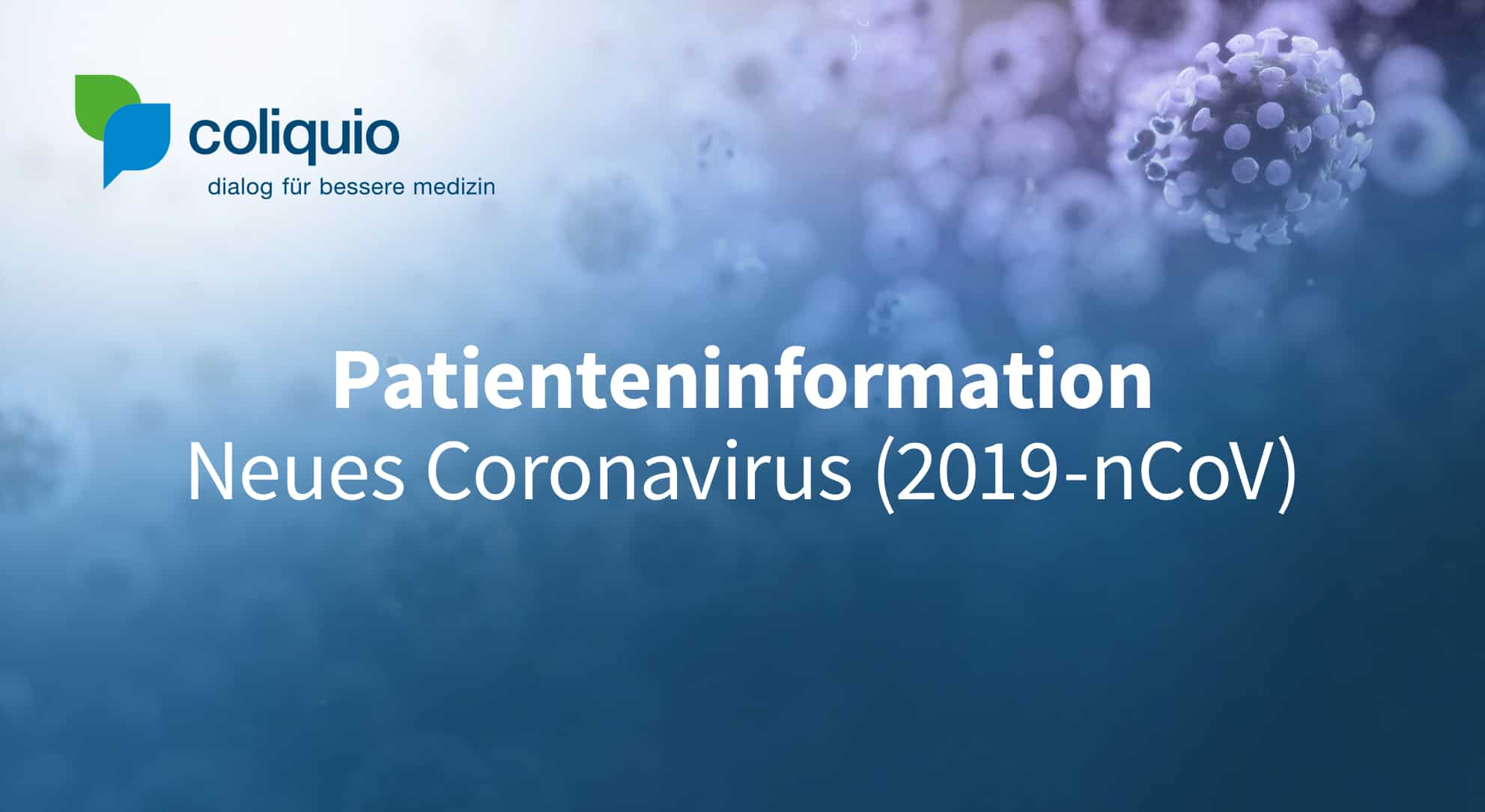 Patienteninformation Neues Coronavirus