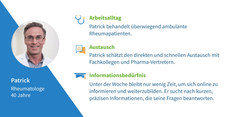 Arzt-Steckbrief Patrick