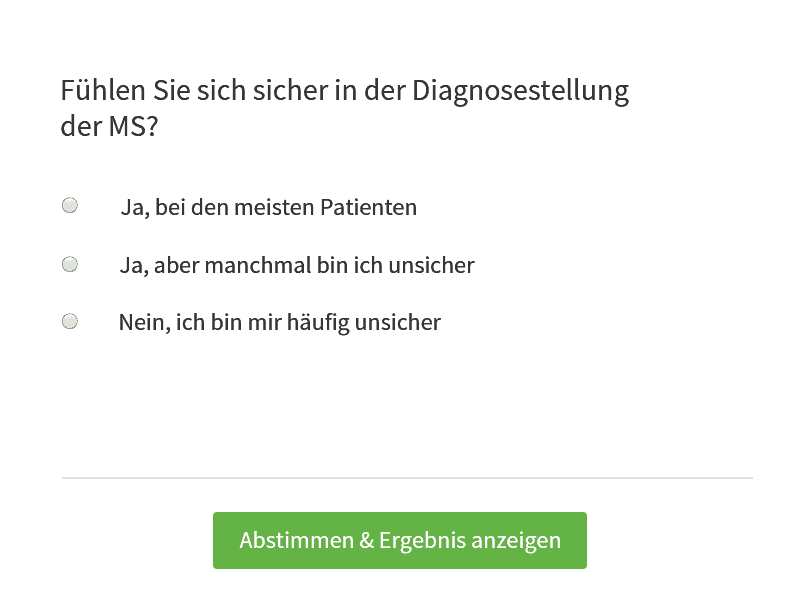 QuickPoll Diagnose MS